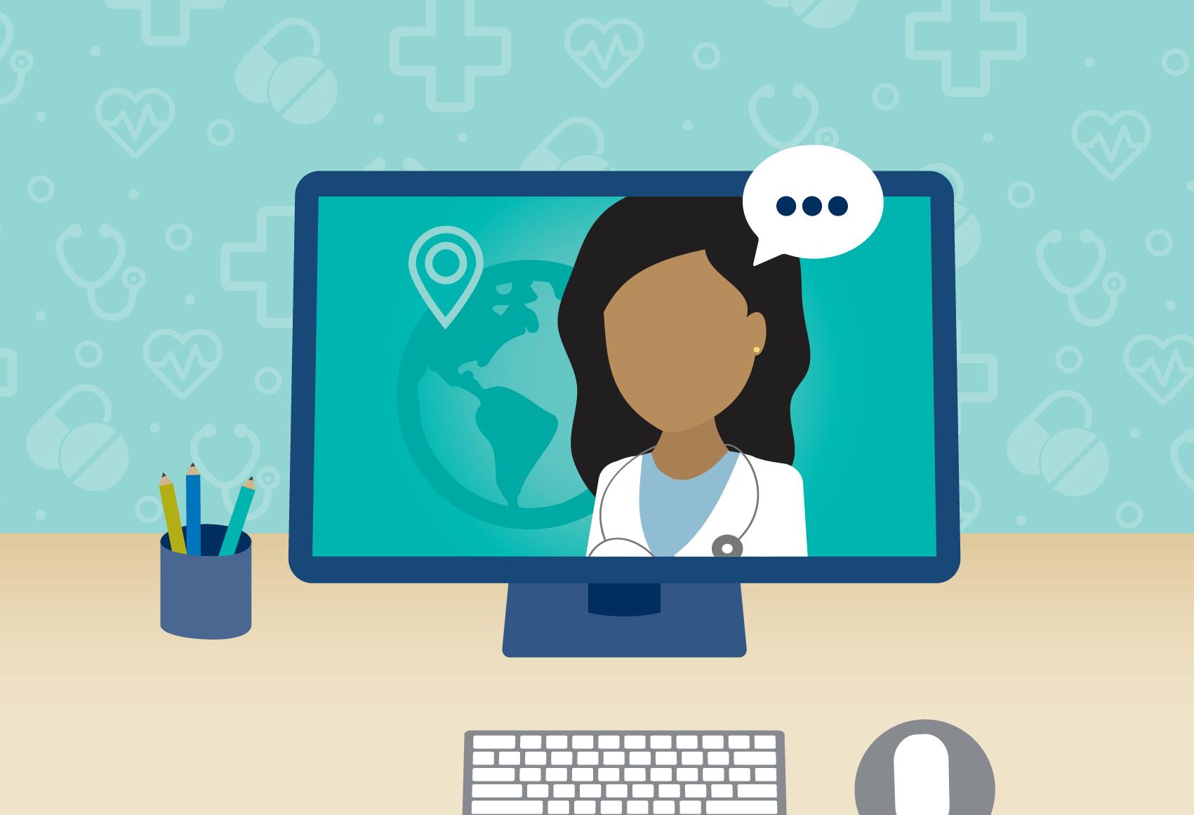 virtual visit with pediatrician